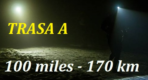 TRASA A 100                                                           miles - 170                                                           km